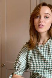 Phoebe Dynevor - Netflix Queue May 2021