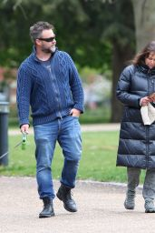 Polly Walker With Her Husband Laurence Penry-Jones - London 04/29/2021