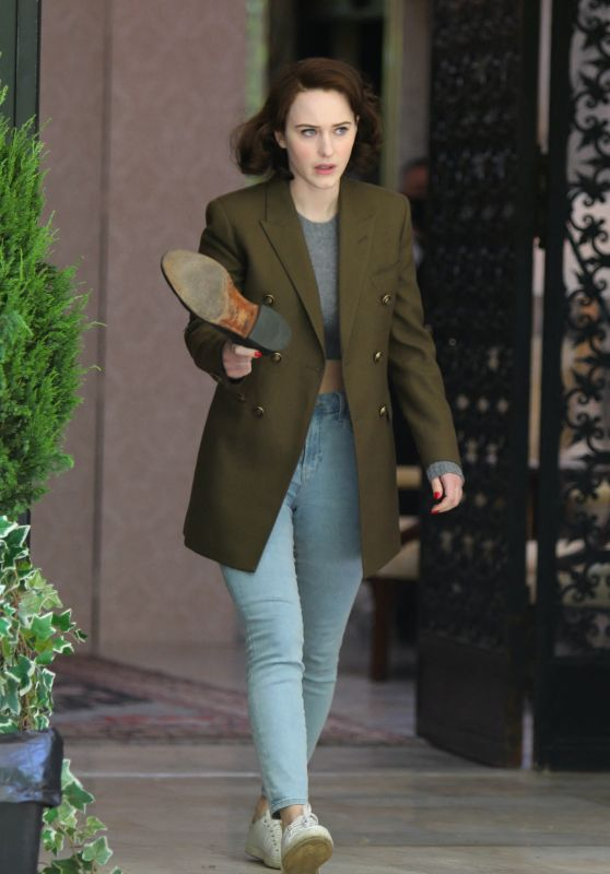 """Rachel Brosnahan at """"The Marvelous Mrs Maisel"""" Set in Manhattan 05/18/2021"""