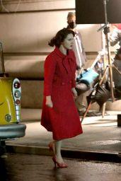 """Rachel Brosnahan - """"The Marvelous Mrs Maisel"""" Set in Uptown, Manhattan 05/10/2021"""