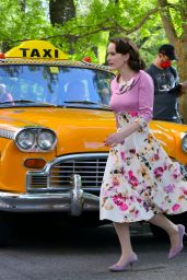"""Rachel Brosnahan - """"The Marvelous Mrs Maisel"""" Set in Uptown, Manhattan 05/15/2021"""