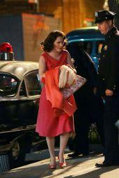 """Rachel Brosnahan - """"The Marvelous Mrs. Maisel"""" TV Show Filming in New York 05/11/2021"""