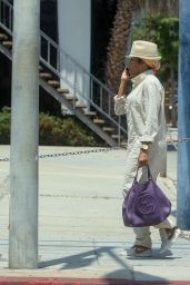 Regina King Carrying a Purple Leather Gucci Purse - Shopping in West Hollywood 05/19/2021