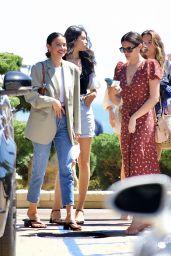 Sara Sampaio, Shanina Shaik, Jasmine Tookes and Kelsey Merritt at Nobu in LA 05/01/2021