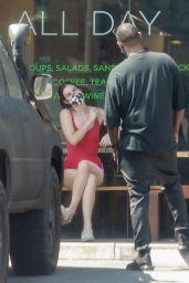 Scout Willis at Locali Sandwich Restaurant in Los Feliz 05/30/2021