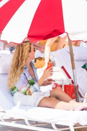 Shay Mitchell on the Beach in Miami Beach 05/01/2021