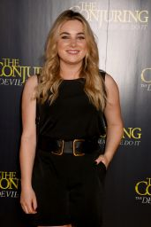 """Sian Welby - """"The Conjuring: The Devil Made Me Do It"""" Screening in London 05/26/2021"""