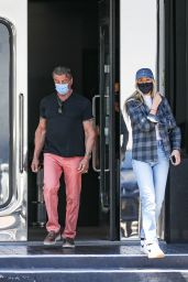 Sistine Stallone and Sylvester Stallone at XIV Karats Ltd in Beverly Hills 05/24/2021