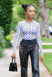 Skai Jackson on Her Way to Dinner in Beverly Hills 05/14/2021