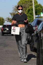 Sofia Richie in a Black Crop Top - Shopping in West Hollywood 05/26/2021