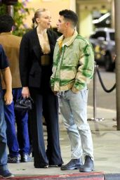 Sophie Turner at Il Pastaio in Beverly Hills 05/14/2021