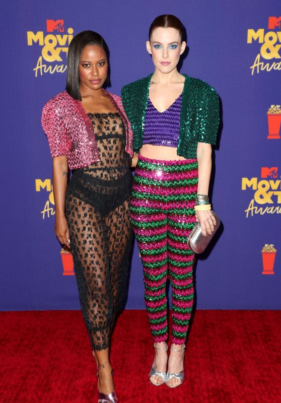 Taylour Paige and Riley Keough – 2021 MTV Movie & TV Awards