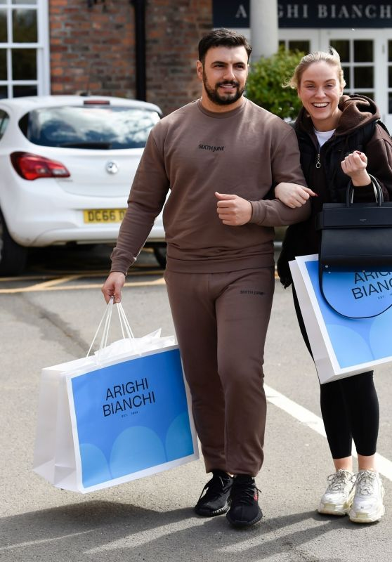 Vicky Pattison and Ercan Ramadan - Shopping at Arighi Bianchi in Macclesfield 05/10/2021