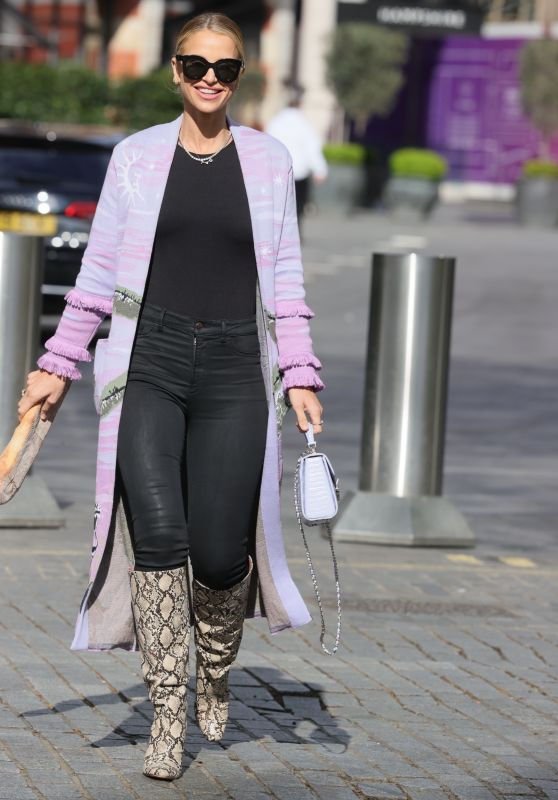 Vogue Williams in Knitted Top and Animal Print Boots - London 05/09/2021