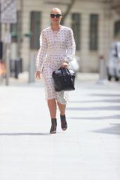 Vogue Williams in Polka Dot Dress - London 05/04/2021