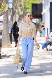 Whitney Port in a Crop Top at Joan's on Third in Studio City 05/21/2021