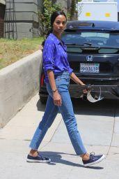 Zoe Saldana Street Style - Los Angeles 05/11/2021