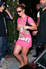 Addison Rae in a Vibrant Pink Dress - Carter Gregory's Birthday Party at 40 Love in West Hollywood 06/19/2021