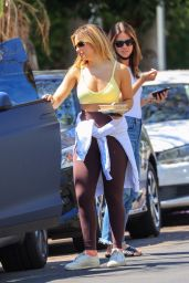 Addison Rae in a Yellow Top - West Hollywood 06/15/2021