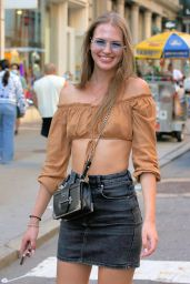 Alena Frolova on Broadway in Soho in NYC 06/05/2021