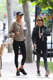 Alessandra Ambrosio at Kreation Organic Juicery in Beverly Hills 06/02/2021