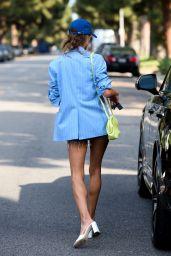 Alessandra Ambrosio in Tiny Denim Shorts - Santa Monica 06/16/2021