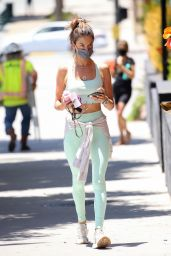 Alessandra Ambrosio in Workout Outfit in West Hollywood 06/14/2021