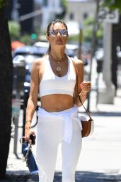 Alessandra Ambrosio Looks Sporty in an All-White Workout Ensemble - Beverly Hills 06/11/2021