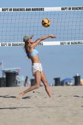 Alessandra Ambrosio - Playing Beach Volleyball in LA 06/05/2021