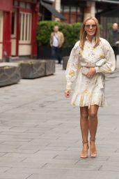 Amanda Holden in Floral Mini Dress - London 06/25/2021