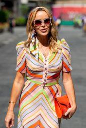 Amanda Holden Wears Patterned Dress in London 06/15/2021