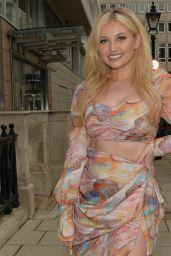 Amy Hart in a Printed Midi Skirt - London 06/24/2021