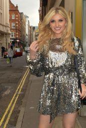 Amy Hart in a Shimmery Dress - London 06/28/2021