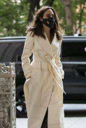 Angelina Jolie in a White Coat - New York 06/22/2021