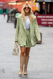 Ashley Roberts in Pastel Green Shorts Suit - London 06/30/2021