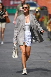 Ashley Roberts in White Shorts and Top With Blazer - London 06/15/2021