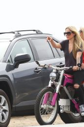 Avril Lavigne - Electric Motorcycle Ride on Memorial Day in Malibu 05/31/2021