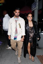 Becky G in a Lingerie-Style Dress at Delilah in West Hollywood 06/12/2021