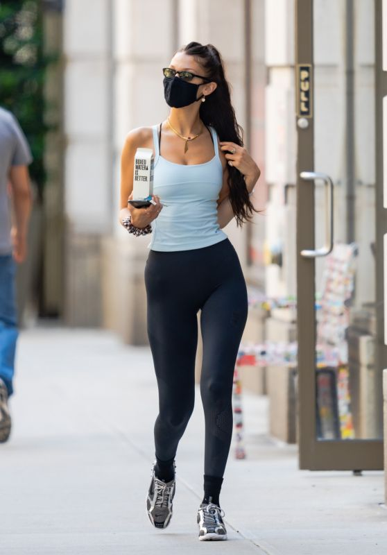 Bella Hadid in Gym Ready Outfit - New York City 06/15/2021