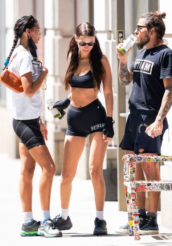 Bella Hadid in Workout Outfit - New York City 06/18/2021