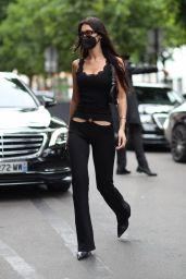 Bella Hadid Street Style - Jacquemus in Paris 06/28/2021