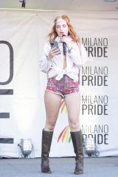 Bella Thorne at the Italian Gay Pride in Milan 06/25/2021