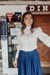 Blanca Blanco - Shooting on a Western Themed Set in Montana 06/07/2021