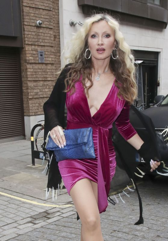 Caprice in Pink Dress at Le Petite Maison in London 06/24/2021
