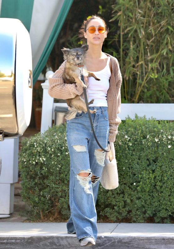 Cara Santana in Ripped Jeans in LA 06/23/2021