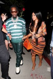 Cardi B and Offset - BOA Steakhouse in LA 06/27/2021