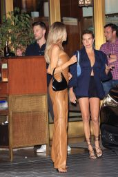 Charlotte McKinney in a Brown Leather Outfit - LA 06/23/2021