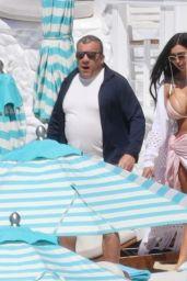 Chloe Khan in a Pink Bikini on Holiday in Mykonos 06/06/2021