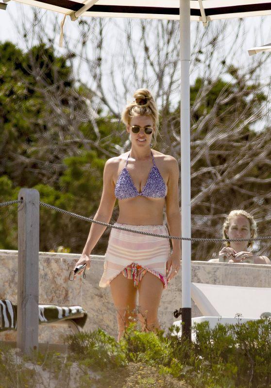Chloe Meadows in a Blue Bikini - Ibiza 06/14/2021