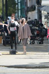 """Claire Foy - """"A Very English Scandal"""" Filming Set in London 06/01/2021"""